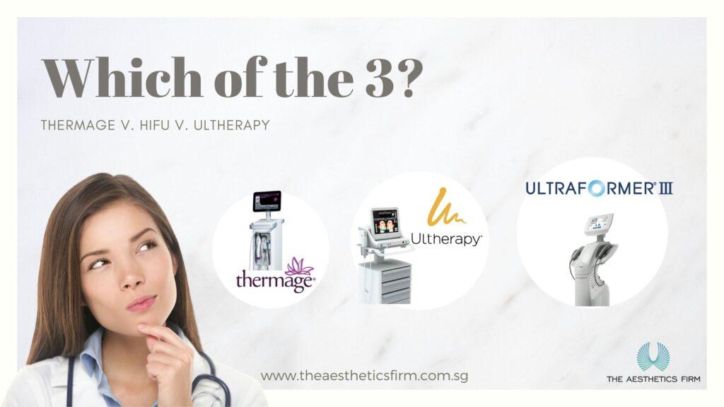 HIFU ultraformer 3 v thermage v ultherapy